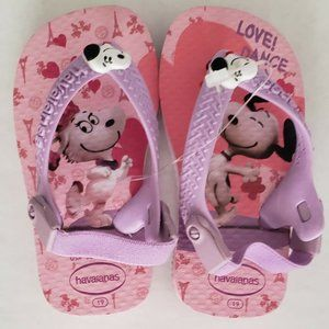 Havaianas Babies Kids Size 19 5c Flip-flops Snoopy
